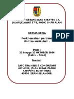 Kertas Kerja Perkhemahan Perdana2016-2