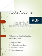 Acute Abdominal Pain MS Lecture