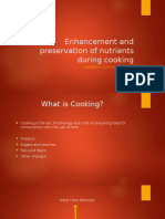 Enhancement and Preservation of Nutrients During Cooking