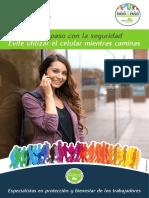 Afiche -Evite Utilizar El Celular Mientras Caminas