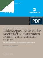 21. AA.vv. Liderazgos Clave en Las Sociedades Avanzadas. ¿Políticos Sin Ideas, Intelectuales Sin Poder