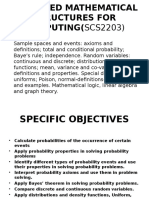 Advanced Mathematical Structures for Computing