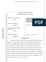 UNITED STATES DISTRICT COURT NORTHERN DISTRICT OF CALIFORNIA, COUNTY OF SANTA CLARA, Plaintiff, v. DONALD J. TRUMP, et al., &  CITY AND COUNTY OF SAN FRANCISCO, Plaintiff, v. DONALD J. TRUMP, et al.,