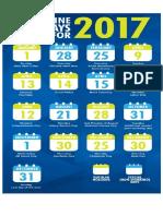 Holidays 2017