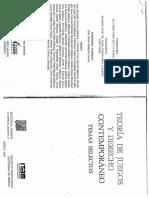 Teoría de Juegos y Derecho Contemporáneo (1)