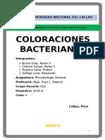 Mongrafía Coloraciones Bacterianas