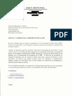 Documentos  de la candidatura de Carlos Colón De Armas a la presidencia de la UPR