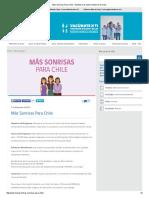 Más Sonrisas Para Chile - Ministerio de Salud