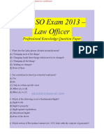 Law Officer Professional Knowledge Question Paper