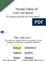 The Present Tense of Tener Tener Que