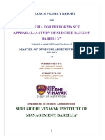 Performance Appraisal Banks
