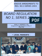 Lecture on Board Regulation 1 series 2014 to Hospital Rph and Physicians