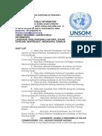 UNSOM Hosts Workshop on Somalia's New Policing Model