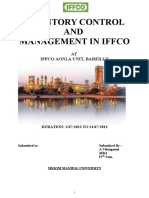 Inventory Control and Management in Iffcofinal