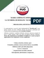 Programma Sintetico di Scordia Può - Maria Germanà Sindaco