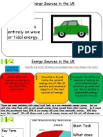 Energy Production in the UK