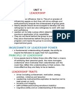 Ppm UNIT 4 Leadership
