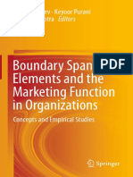 (Book) Boundary Spanning Elements and the Marketing Function in Organizations