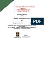 Project Report Sample- Hospital Management System (Smu)