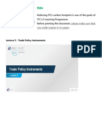 Lecture 2 - Trade Policy Instruments