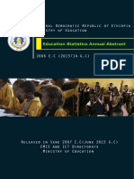 Education Statistics Annual Abstract 2006 E.C.