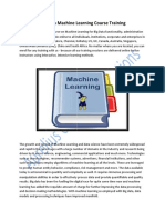 Big Data Machine Learning Course Training