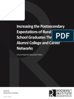 Increasing the Postsecondary Expectations of Rural High School Graduates Through Alumni College and Career Networks