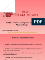 Download Actual CIMA P2 Advanced Management Accounting Dumps - P2 Study Material