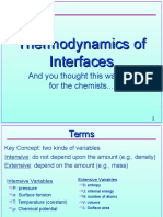 Physical chemistry of interfaces