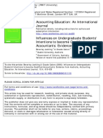 2006 Influences on Undergraduate Students' Intentions to Become Qualified Accountants Evidence From Australia
