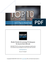 Top 10 Tips - Hack My Study