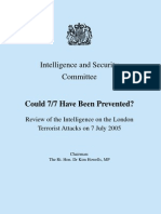 2009-05-CM7617-ISC-Could 77 Have Been Prevented-Review of the Intelligence on the London Terrorist Attacks on 7 July 2005-20090519 77review