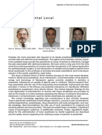Preface Update of Dental Local Anesthesia