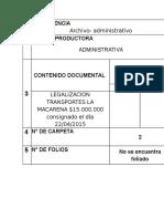 Registro de Carpetas en (ARCHIVO1)