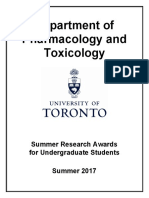 Summer2017- Pharmacology InfoPackage - U of T
