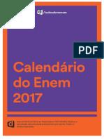 Calendário Enem 2017 - Descomplica