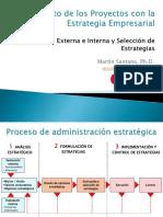 Evaluación Externa e Interna y Elección de Estrategias - MBA Proyectos