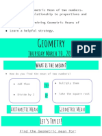 geometric mean lesson slides