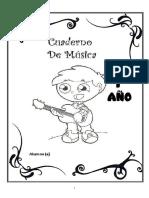 1_ Año Cuaderno de Música (25 Hojas)