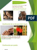 Clasificación de La Discapacidad Visual