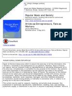 Artists as Entrepreneurs, Fans as Workers_Morris
