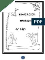 4_ Año Cuaderno de Música ( 43 Hojas)