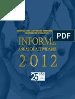 Informe de Actividades 2012