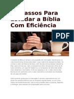 11 Passos Para Estudar a Bíblia Com Eficiência
