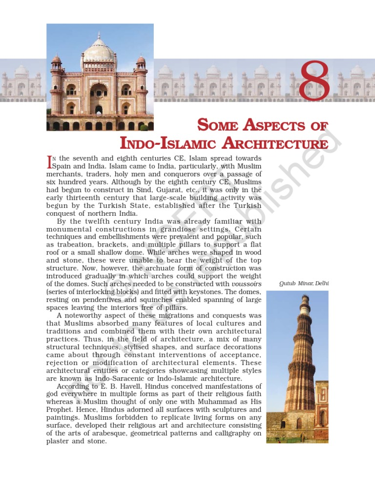 indo islamic architecture ncert dome mosque