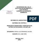 Informe Sistemas de Control I