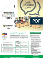 Presupuesto Participativo basado en Resultados 2018 - Huancayo, Perú