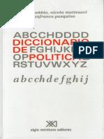 Bobbio, Norberto - Diccionario de Politica {1967}