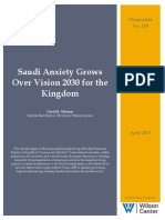 Saudi Anxiety Grows Over Vision 2030 for the Kingdom
