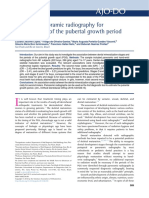 Utility of Panoramic Radiography for Identification of the Pubertal Growth Period